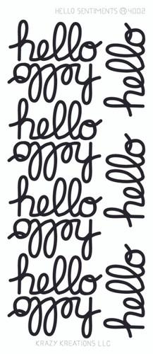 Hello Sentiment Sticker