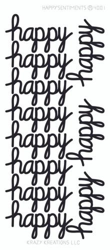 Happy Sentiment Sticker