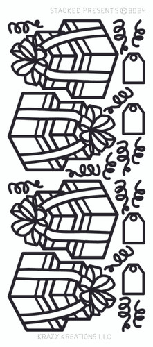 Stacked Presents Outline Sticker