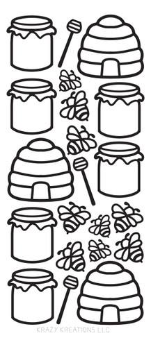 Bees Outline Sticker