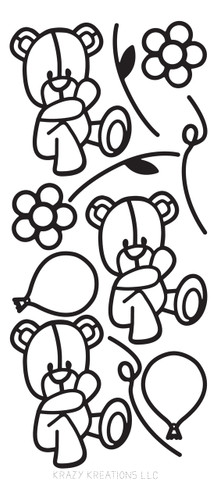 Bear Outline Sticker