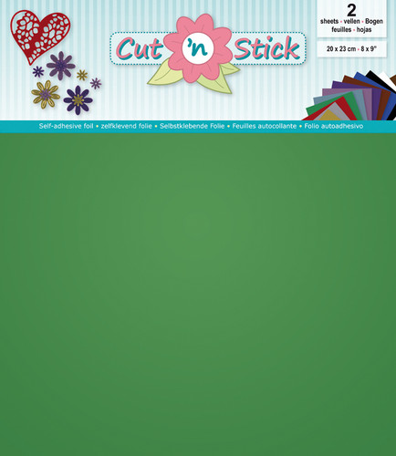 Cut 'n Stick Self-Adhesive Foil - Green