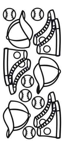 Baseball Outline Sticker