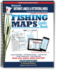 Detroit Lakes & Otter Tail Area Minnesota Fishing Map Guide - includes contour lake maps and fishing information for over 170 lakes