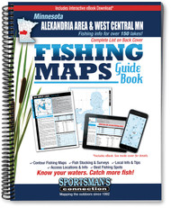 Alexandria Area & West Central Minnesota Fishing Map Guide - includes contour lake maps and fishing information for over 145 lakes