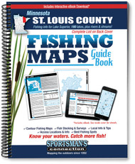 Northern Minnesota St. Louis County Fishing Map Guide cover -  includes contour lake maps and fishing information for over 170 lakes and rivers plus Lake Superior coverage