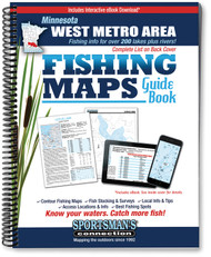 West Metro Area Minnesota Fishing Map Guide - includes contour lake maps and fishing information for over 200 lakes