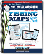 Northwest Wisconsin Northern Region Fishing Map Guide back cover and listing of lakes