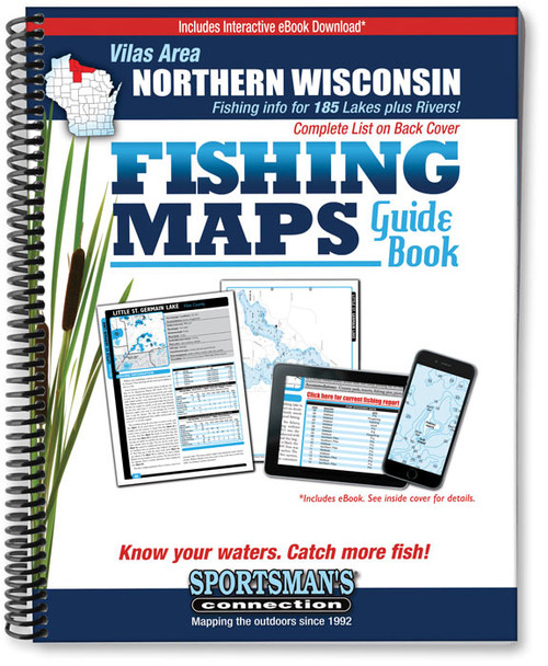 Vilas Area Wisconsin Fishing Maps Sportsmans Connection - Map of northern wisconsin lakes