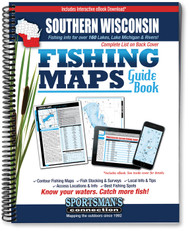 Southern Wisconsin Fishing Map Guide - includes contour lake maps and fishing information for over 170 lakes