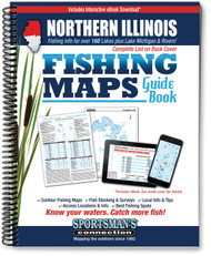 Northern Illinois Fishing Map Guide cover - lake maps and fishing information for Lake Michigan and over 160 lakes and rivers