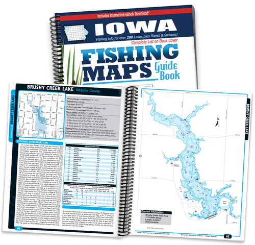 Iowa fishing map guide sportsmans connection iowa fishing map guide cover and map page spread fandeluxe Images