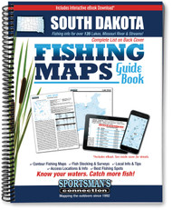 South Dakota Fishing Map Guide - includes contour lake maps and fishing information for over 135 lakes