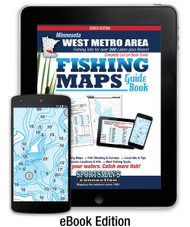 West Metro Area Minnesota Fishing Map Guide eBook cover