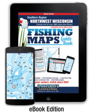 Northwest Wisconsin Southern Region Fishing Map Guide eBook Edition - includes contour lake maps and fishing information for over 190 lakes