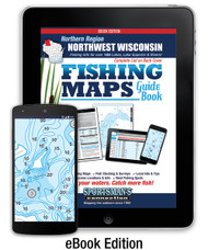 Northwest Wisconsin Northern Region Fishing Map Guide eBook Edition - includes contour lake maps and fishing information for over 195 lakes