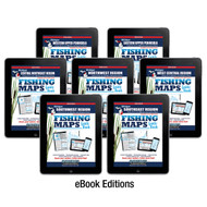 Michigan Fishing Map Guide eBook Covers