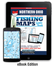 Northern Ohio Fishing Map Guide eBook - includes contour lake maps and fishing information for over 130 lakes