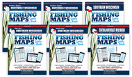 Wisconsin Fishing Map Guide eBook Edition covers