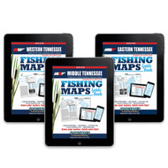Tennessee Fishing Map Guides covers