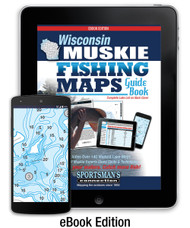 Wisconsin Muskie Fishing Map Guide eBook Edition - includes contour lake maps and fishing information for over 140 lakes