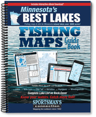 Minnesota's Best Lakes Fishing Map Guide cover