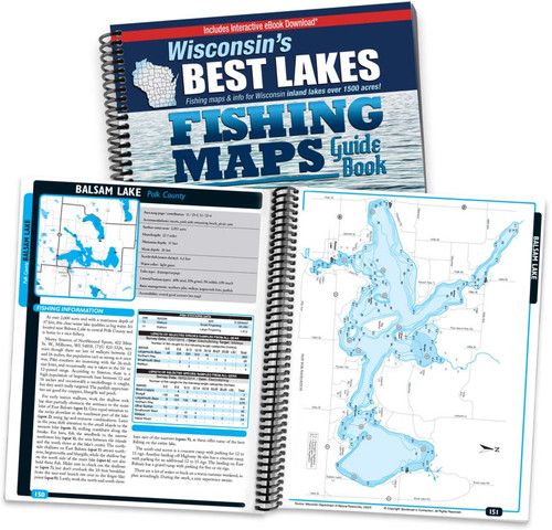 Wisconsin 39 s best lakes fishing map guide sportsman 39 s for Best fishing in wisconsin