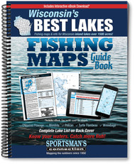 Wisconsin's Best Lakes Fishing Map Guide Cover