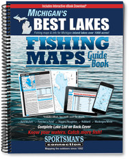 Michigan's Best Lakes Fishing Map Guide cover