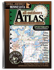 Central & Northwest Minnesota All-Outdoors Atlas & Field Guide cover - your complete guide to all of the outdoor opportunities the region has to offer