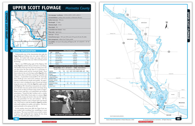 Downloadable maps sample pages