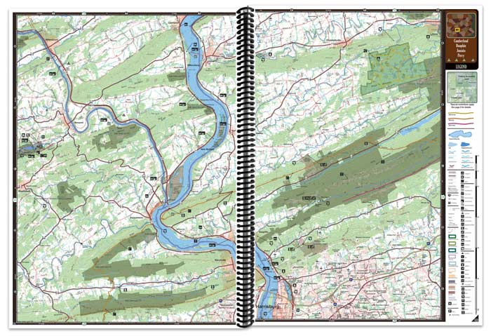 Pennsylvania All-Outdoors Atlas map pages