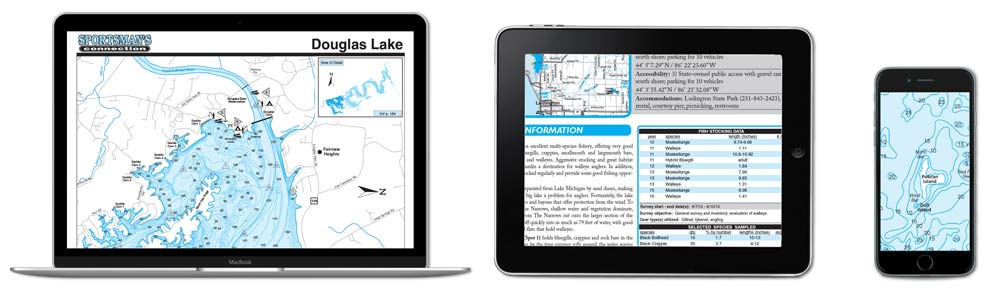Fishing Map Guide eBook sample pages