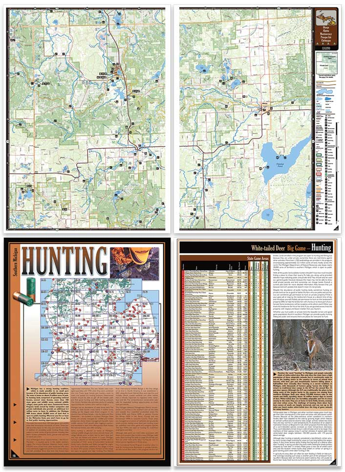 Michigan All-Outdoors Atlas sample pages