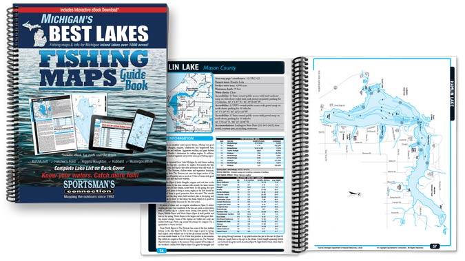 Michigan Best Lakes Fishing Map Guide