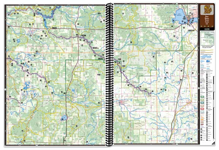 Michigan All-Outdoors Atlas map pages