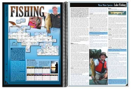Michigan All-Outdoors Atlas Fishing pages