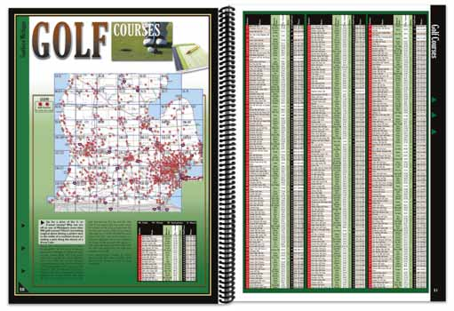 Michigan All-Outdoors Atlas golfing pages