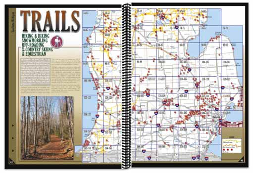 Michigan All-Outdoors Atlas trail pages
