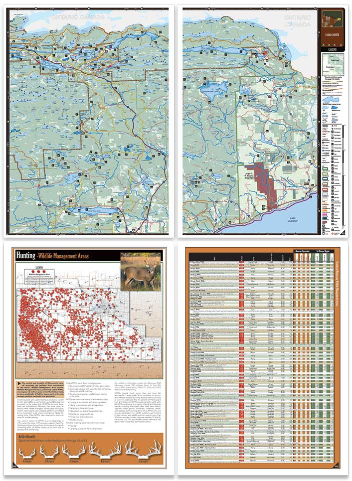 Minnesota All-Outdoors Atlas sample pages