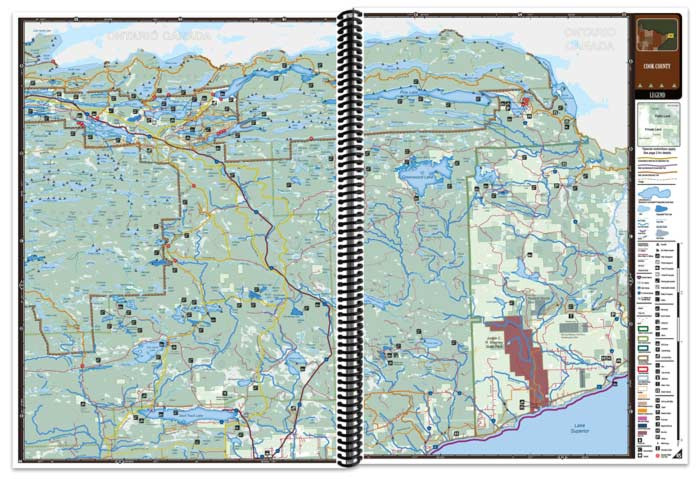 Minnesota All-Outdoors Atlas map pages