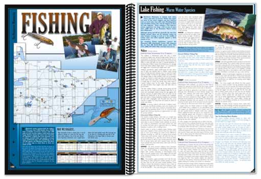 Minnesota All-Outdoors Atlas Fishing pages