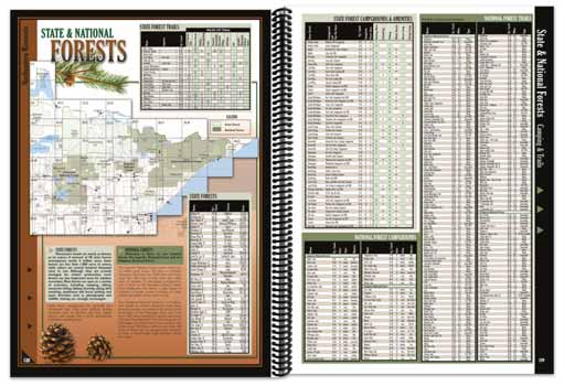 Minnesota All-Outdoors Atlas forest pages