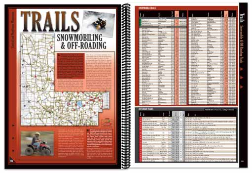 Minnesota All-Outdoors Atlas snowmobile trail pages