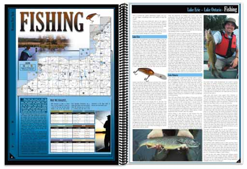 New York All-Outdoors Atlas Fishing pages