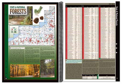 New York All-Outdoors Atlas forest pages
