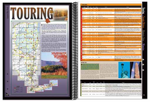 New York All-Outdoors Atlas touring pages
