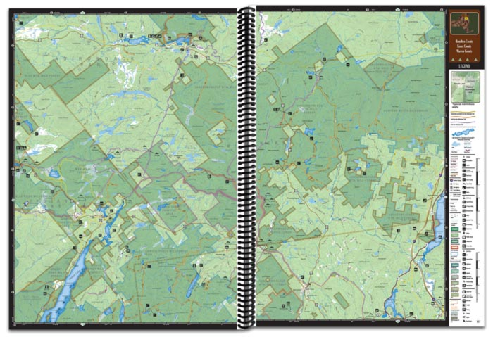 New York All-Outdoors Atlas map pages