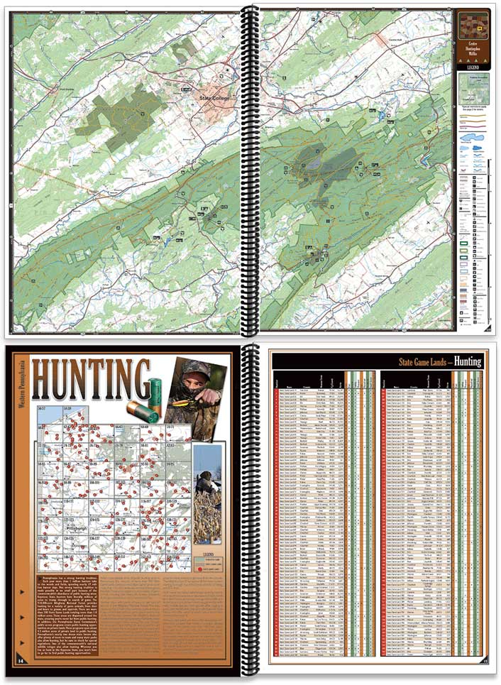 Pennsylvania All-Outdoors Atlas sample pages
