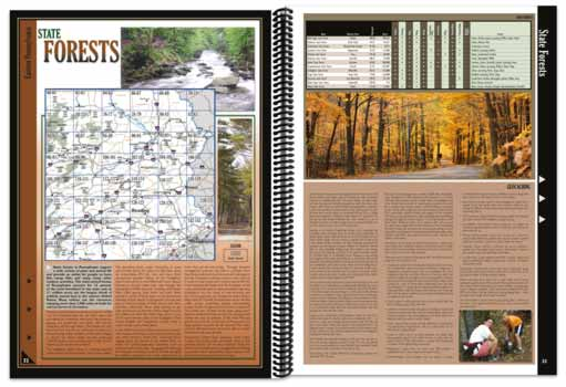 Pennsylvania All-Outdoors Atlas forest pages